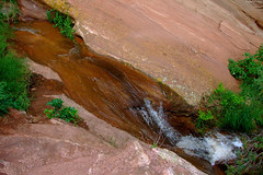 "Shallow stream flowing over Red Sandstone • <a style=""font-size:0.8em;"" href=""http://www.flickr.com/photos/34843984@N07/14924285123/"" target=""_blank"">View on Flickr</a>"