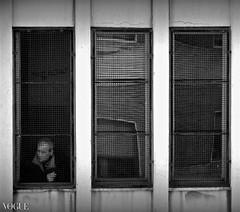 dietro la grata (Carlo Mirante) Tags: city school people blackandwhite bw italy man reflection window photo italia campania finestra vogue naples fujifilm bianconero scuola x10 castellammare castellammaredistabia stabia bidello dietrolagrata