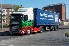 scania truck & tesco trailer eddie stobart (RILEYS TRANSPORT PHOTOS) Tags: truck tesco eddie scania stobart
