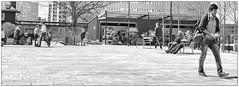 Walking (Xerethra) Tags: street bw 35mm geotagged spring nikon europa europe sweden candid skandinavien may streetphotography sverige scandinavia sollentuna maj vår svartvit 2013 stockholmslän nikond80 turebergstorg turebergstorgsollentunastockholmslänsverige