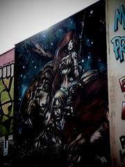 Street Art, Holywell Lane (firstnameunknown) Tags: urban streetart london art graffiti mural fantasy shoreditch camerabag eastlondon holywelllane camerabag2