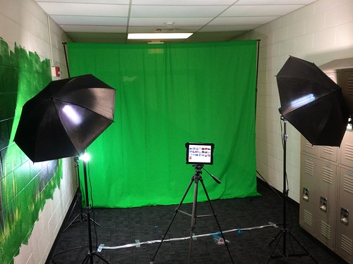 Green Screen at our Fall Carnival by Wesley Fryer, on Flickr