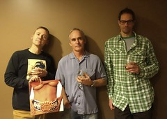 Portrait of Three Men and an Album by Ween (ricko) Tags: men lauren tom album drinks nate record ween chocolatecheese mdpd2014 mdpd1411