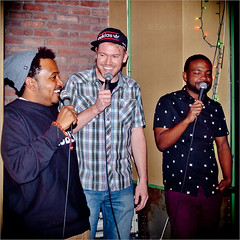 Chicago's Will Miles, Kenny DeForest & Clark Jones host Sunday Night Comedy at the Brooklyn Knitting Factory (TheeErin) Tags: up brooklyn jones stand comedy comic performing will clark williamsburg comedian miles knittingfactory mic kenny standup deforest comedians chicagoist standupcomedy metropolitanavenue willmiles clarkjones brooklynknittingfactory kennydeforest theeclarkjones knitbk clarknyss knitfactorybk