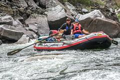 River running, middle fork, Salmon River, Idaho........ (Charles Smallman) Tags: vacation usa holiday rapids idaho salmonriver whitewaterrafting middlefork riverrunning riverofnoreturn nikod800 halessmallman