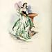 Pensée (Pansy, Johnny jump-up, Viola tricolor)  Les fleurs animées, vol  2 (1867)