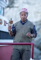 _DSC0761 (WeChitra Photography) Tags: people india man worship buddhist streetphotography buddhism tibet prayerwheel prayers jammuandkashmir abhisheksingh lehladakh ladakhportrait lehcity ladakhpeople abhisheksinghphotography ladkhiman