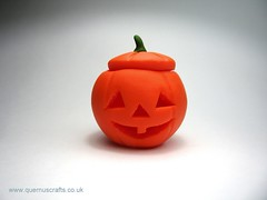 Carved Polymer Clay Hollow Pumpkin (QuernusCrafts) Tags: cute halloween pumpkin polymerclay hollow tutorial carvedpumpkin hollowpumpkin quernuscrafts