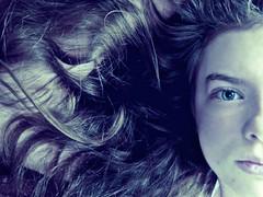 blue. (kaczmarek.maria) Tags: blue eye girl beauty hair photo natural curly