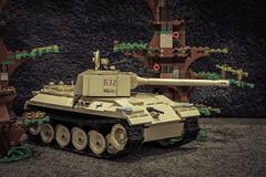 COBI German Panther (2447) (Adam Purves (S3ISOR)) Tags: tank lego tiger wwii worldwarii armor vehicle puma panther armour cobi halftrack t34 katyusha bm13n