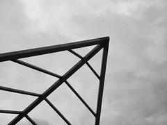 Pointer (mikemcnary) Tags: sky blackandwhite weather architecture corner point cloudy kentucky overcast louisville mcalpine