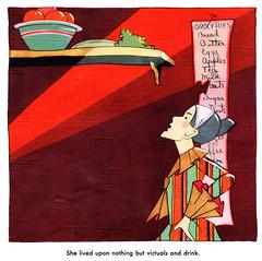 There was an old woman (katinthecupboard) Tags: food drink oldwoman artdeco pantry 1929 larder mothergoose vintagechildrensillustrations vintagechildrensverse