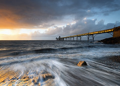 clevedon (Scott Howse) Tags: uk light sunset england sunlight beach water bristol coast pier nikon dusk tide horizon somerset severn nikkor channel clevedon washback leefilters 06nd 09gnd 1635mmf4 d800e