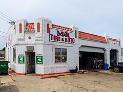 M&R Tire & Auto On Route 66 (J Wells S) Tags: illinois route66 gasstation artdeco braidwood vintagegasstation kellytires mrtireauto automobileservicestationandtirestore