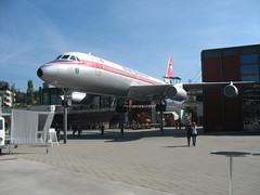 Convair 990 at Swiss Museum of Transport near Luzern (pchurch92) Tags: switzerland luzern lucern convair990 swissmuseumoftransport