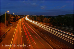 Car Lights M62 (Huddsbirder) Tags: car lights motorway panasonic huddersfield m62 fz1000