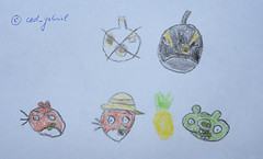 Angry birds characters drawn by my 5yo son: Bomb, Red, bad piggy (cod_gabriel) Tags: piggy drawing son dessin bomb dibujo fiu tegning desenho disegno hijo fils zeichnung tekening sohn figlio  rovio teckning rysunek rajz piirustus   desen angrybirds menggambar    badpiggy rovioentertainment porcuor