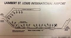 """New"" concourse D at Lambert-St. Louis (airbus777) Tags: airport map stlouis terminal diagram stl americanairlines twa ozark tbt concoursed throwbackthursday lambertstlouisinternational"