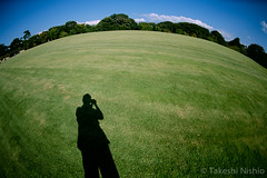 me on the earth (Takeshi Nishio) Tags: uv nikonfm3a   ei100  16mmfisheye fujiprovia100frdpiii filmno793