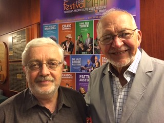 Retired university of Miami music professors Gary Lindsay and Larry Lapin at the festival Miami concert at Gusman hall