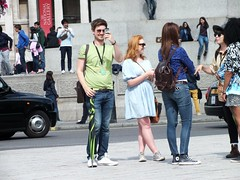 London Tourists (Waterford_Man) Tags: street summer people london girl candid tourists jeans