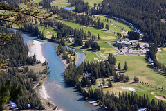 Flowing by the Golf Course (JB by the Sea) Tags: canada rockies alberta banff rockymountains banffnationalpark tunnelmountain canadianrockies september2014