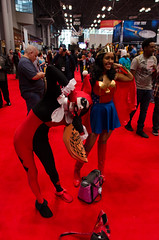 Harley Quinn and Wonder Woman Cosplay (DC Comics) (vince.ng86) Tags: woman wonder cosplay harley quinn comiccon nycc nycc2014