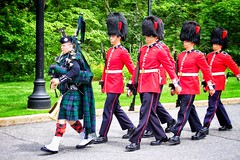 Ottawa Ontario Canada ~ Changing of The Guard ~ Rideau Hall (Onasill ~ Bill Badzo) Tags: travel red summer music house ontario canada home architecture canon bag eos rebel hall site general ottawa pipes sigma tourist capitol governor changing classical uniforms mansion d100 guards residence 1001nights rideau attraction sl1 on d1000 18250mm 1001nightsmagiccity onasill snapseed