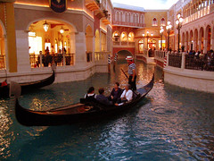 "Four people on Gondola inside The Venetian Hotel • <a style=""font-size:0.8em;"" href=""http://www.flickr.com/photos/34843984@N07/15543990571/"" target=""_blank"">View on Flickr</a>"