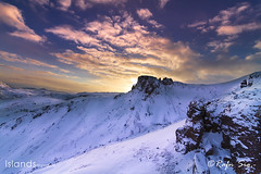 Snowy mountains in the Highlands
