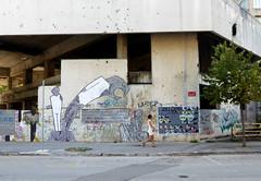 Mostar - Bosnia and Herzegovina (Sanne Aabjerg) Tags: streetart mostar balkan streetshot bih bosniaandherzegovina
