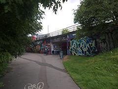 P1250391 (samsaundersleeds) Tags: streetart bristol underpass graffiti barrier f11 m32 shareduse cyclinginfrastructure bristolcyclingcampaign bristolstrategiccyclingnetwork innermiddleorbital cyclingfreeway