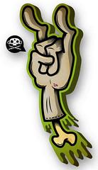 ImI (.:CALACA:.) Tags: rock illustration dead design hand zombie adobe mano illustrator diseo muerta calaca bestvector