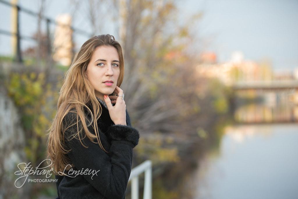 Fall fashionable-stroll (VS8G) Tags: camera autumn portrait canada water  face fashion