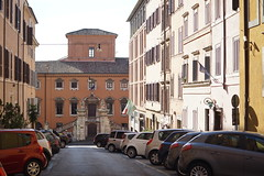 DSC05863 (10_Days_in_Rome) Tags: street old city travel bridge november windows light shadow red vacation urban italy orange cloud white rome roma tower window yellow clouds photography haze italia cityscape shadows walk sony horizon streetphotography e tiber tevere hazy top20 oldtown lazio csc pontesisto sisto tibre latium a7r sel70200g ilce7r fe70200mmf4goss