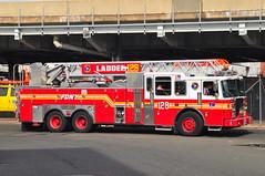 FDNY Ladder 128 (Triborough) Tags: nyc newyorkcity ny newyork firetruck queens lic fireengine ferrara ladder fdny longislandcity ffa queenscounty newyorkcityfiredepartment ladder128