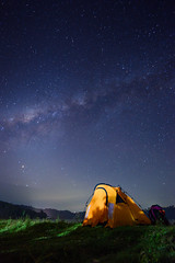 Under The Sky (eggysayoga) Tags: longexposure camping shadow camp wallpaper bali lake green grass night indonesia stars landscape star nikon tent galaxy astrophotography milkyway 1635mm singaraja buyan d810 portscape