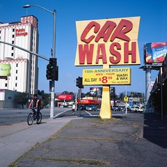 Anniversary (ADMurr) Tags: blue red 6x6 public car yellow rollei la scary movement kodak north right storage carwash wash left virgil planar clamato ektar