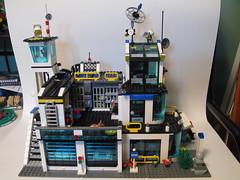 Lego Police Station (Shadowman39) Tags: city building station town lego garage police headquarters jail hq custom 7744 7498