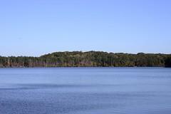 Blue on blue (holdit.) Tags: autumn sky lake fall shoreline fallfoliage foliage treeline sweetwatercreekstatepark sparksreservoir angstrom