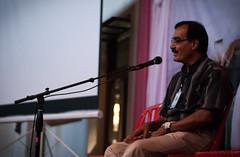 AMBPPCT Trustee, Ramesh Jangle giving a small speech