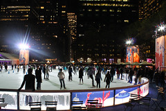 Ice Skating in Manhattan (Lojones13) Tags: park newyorkcity autumn night canon evening manhattan iceskating bryantpark eoskissx3