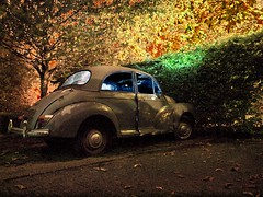 Nocturnal Decay 1 (nl042) Tags: solarisation solarization abandoned decay nikcolorefex car morrisminor