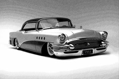 Shane Monopoli's 1955 Buick (bindare2) Tags: custom customhotrod coolcars photoart slammed photoshop topaz v8 cruiser chopped carimages carcustoms carartwork carartpictures carartphotos car carart automobile americancars american 1955 vehicle buick fotosketcher