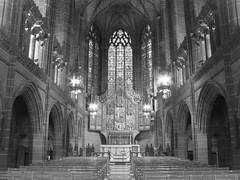 (Kelvin P. Coleman) Tags: canon powershot liverpool cathedral church chapel altar window stone stonework hdr indoor bw noiretblanc schwarzweiss blancoynegro