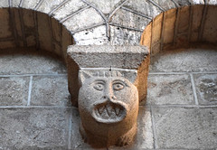 Meet your Medieval Monster (YIP2) Tags: chapiteaux capitals church monster pillar column medieval stone art halloween facade abbaye solignac