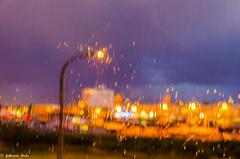 DSC_3209 (fabiennethelu) Tags: calais flou lumire nuit pluie port rue