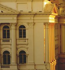 Prédio Histórico da UFPR (Régis Cardoso) Tags: praça santos andrade square curitiba prédio histórico ufpr sunset greek architeture