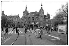 Leidseplein (City-Photography) Tags: leidseplein square amsterdam netherlands holland dutch canals canal amsterdamse grachten gracht city bridge architecture black white photography fotos zwart wit street buidings building scene wereldstad holiday historic historisch photo picture pictures bw blackwhite blackandwhite europe people citie cities stad travel adventure trip tourist travelphotography traveltheworld