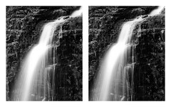 Stewart Stereo (BHuij) Tags: 147 35mm aspen bw base black canyon cross crosseye dil dilution e eye fall falls film fpp g grove hc110 hike hiking hp5 ilford lens monochrome mz3 nature olympus om omg ortho orthostero photography project provo s3d stereo stereography stewart svema utah water waterfall white zuiko